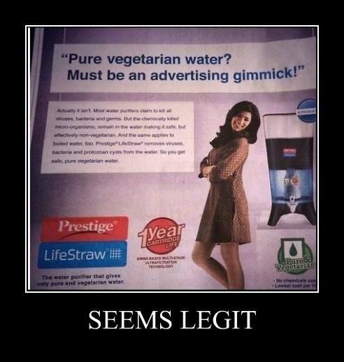 funny seems legit vegetarian - 8239962112