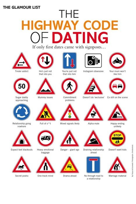 funny signs road signs tinder dating