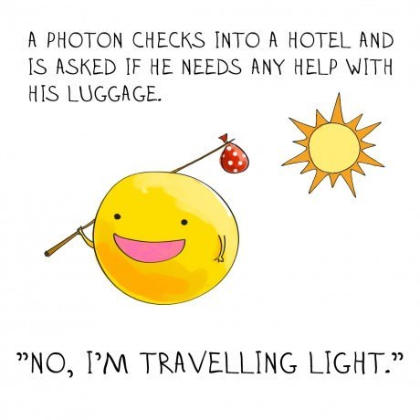 science puns photons web comics