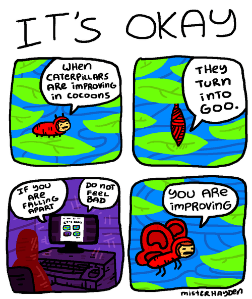 caterpillars life zen sick truth web comics
