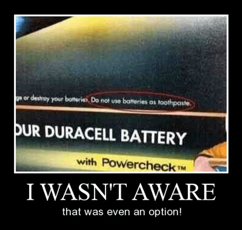 batteries funny idiots wtf toothpaste - 8240378112