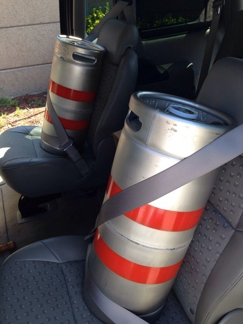 beer,funny,safety,keg,seatbelt