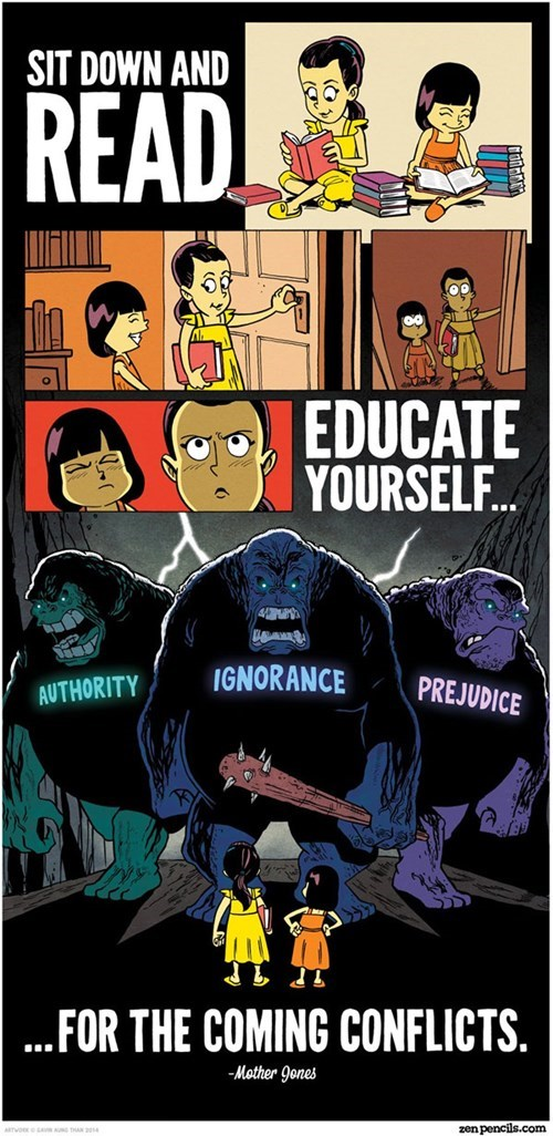 education,reading,sick truth,web comics
