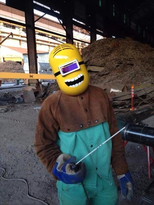 construction,despicable me,monday thru friday,mask,minions,poorly dressed,g rated