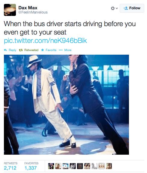 bus,michael jackson,twitter