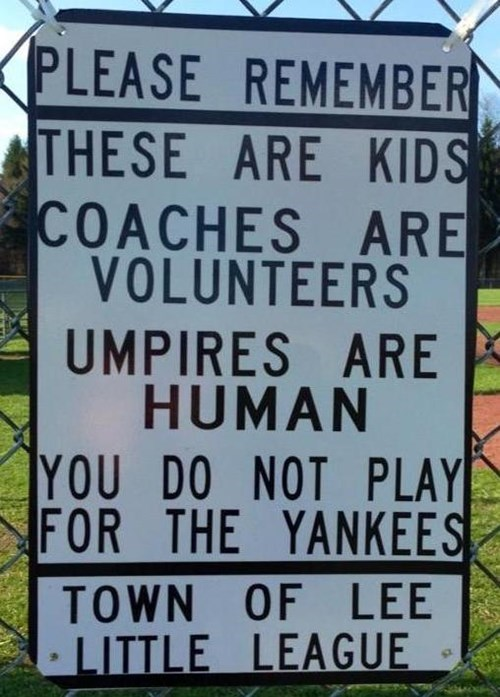 kids little league parenting sign g rated - 8240613120