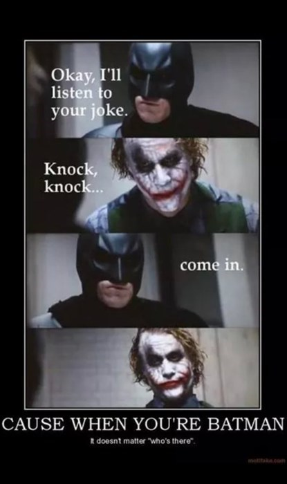 knock knock,the joker,batman