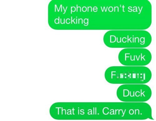phones autocorrect cursing swears - 8240724480
