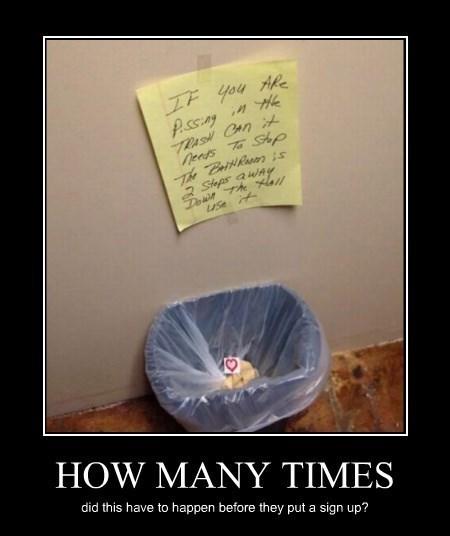 wtf trash pee idiots funny - 8241275648