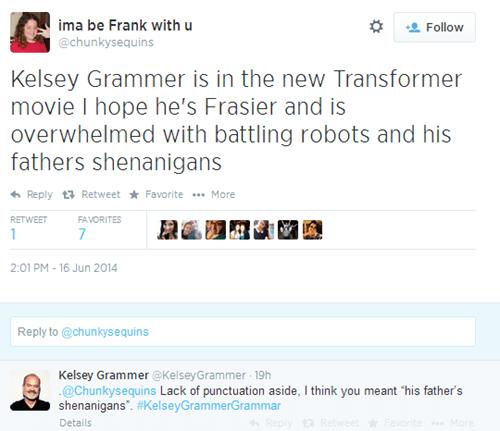 twitter,grammar,kelsey grammer,celeb
