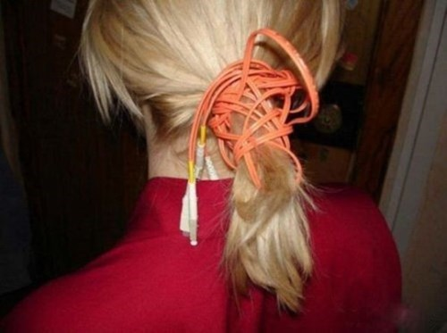 cable hair ponytail poorly dressed wires - 8241408000
