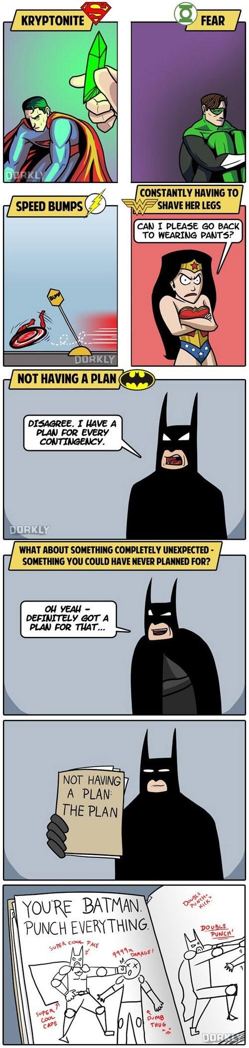 batman dorkly justice league weakness