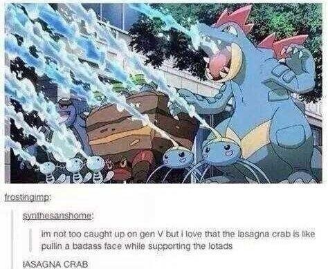 feraligatr,lasagna,Pokémon,tumblr