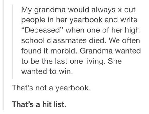 mind blown grandma school failbook - 8241605632