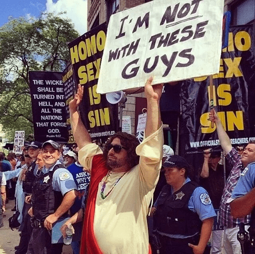 jesus Perfect Timing Protest lgbtq win