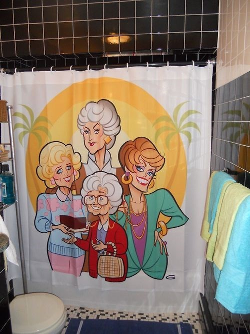 golden girls funny shower curtain - 8241627392