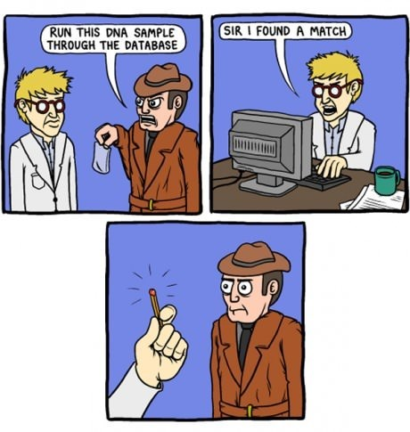 detectives,puns,matches,web comics