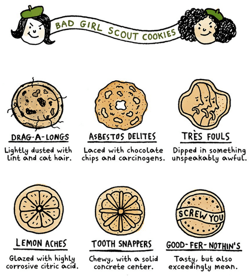 girl scout cookies,cookies,web comics