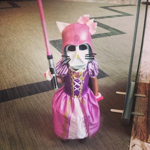 cosplay,kids,disney princesses,hello kitty,darth vader,dorkly