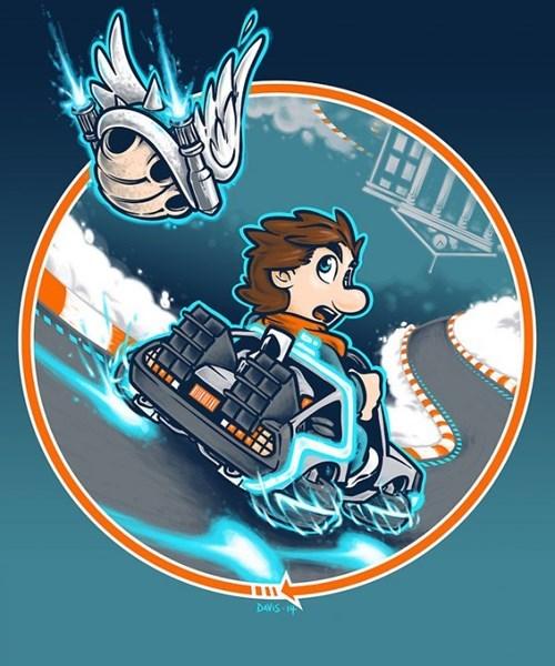 back to the future Mario Kart mario kart 8 t shirts - 8242568704