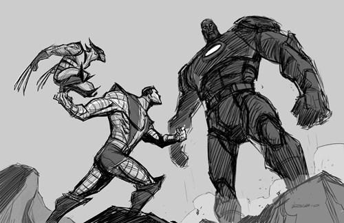 colossus,sentinels,wolverine