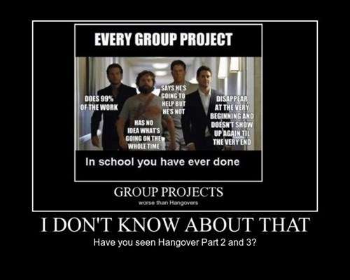 school hangover group project funny - 8242590976