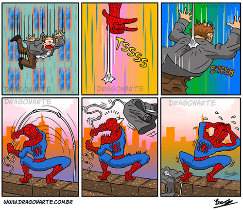 uh oh Spider-Man web comics - 8242595840