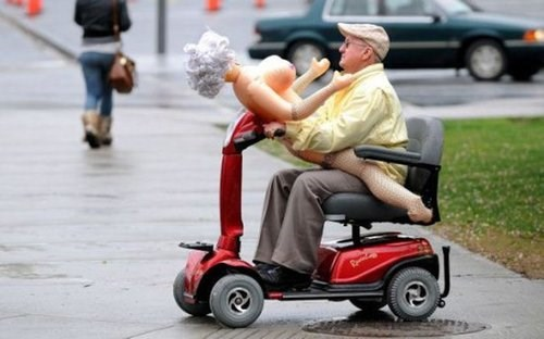blow-up doll funny old man
