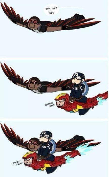 captain america on your left the falcon - 8242641920