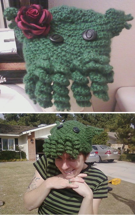 cthulu,hats,knitting