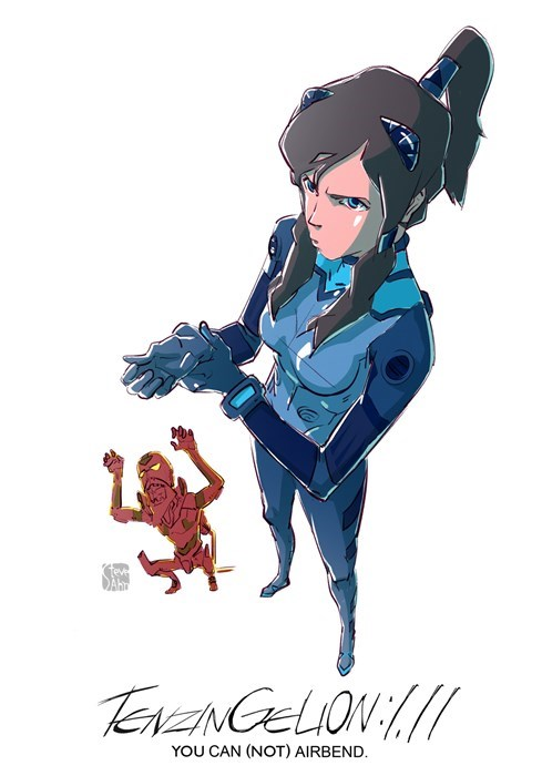 anime crossover cartoons Fan Art korra neon genesis evangelion - 8242803200
