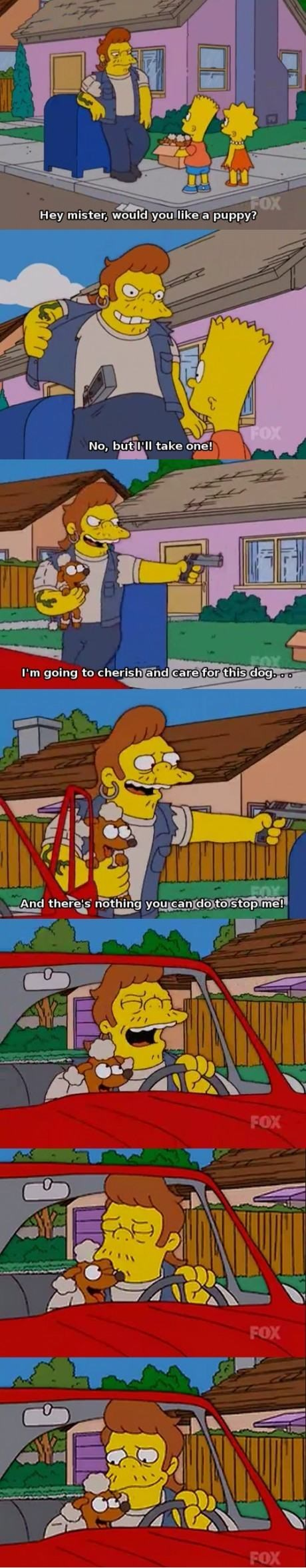 puppies,the simpsons,stealing