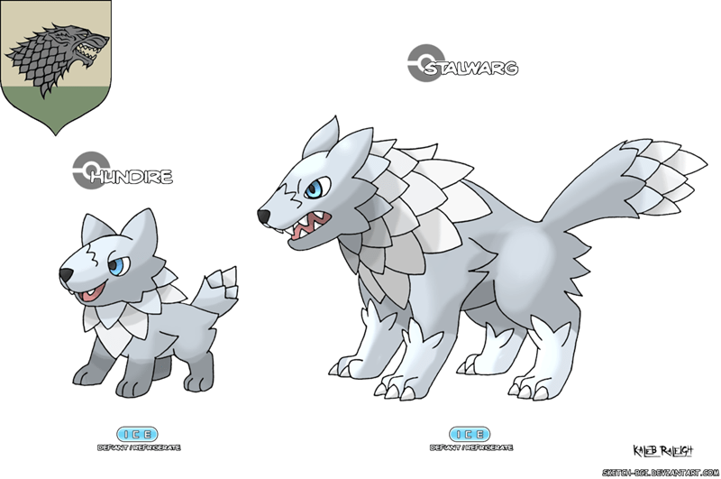 crossover Pokémon art Game of Thrones win - 824325