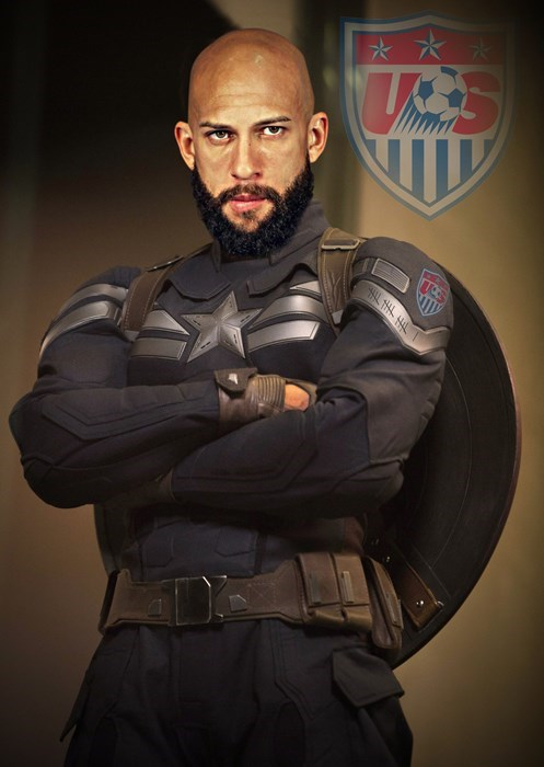 captain america,tim howard,world cup