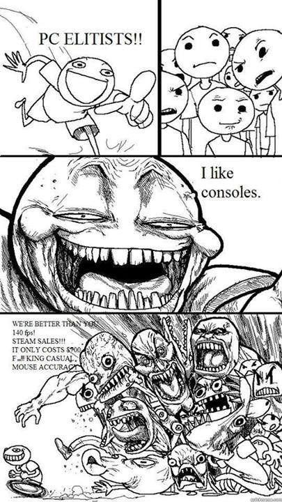 consoles trolling pc loser race pc elitists - 8243745536
