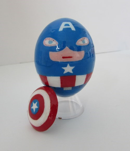 art,eggs,captain america