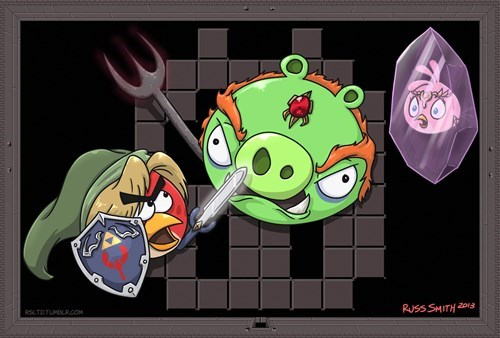 angry birds,Fan Art,zelda