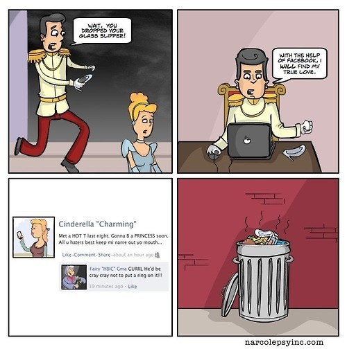 cinderella social media web comics - 8243823104