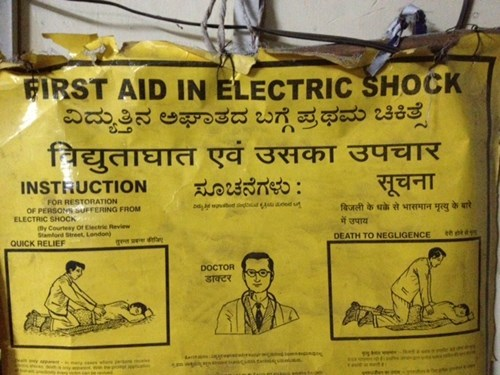 Fail Electro Shock Warning