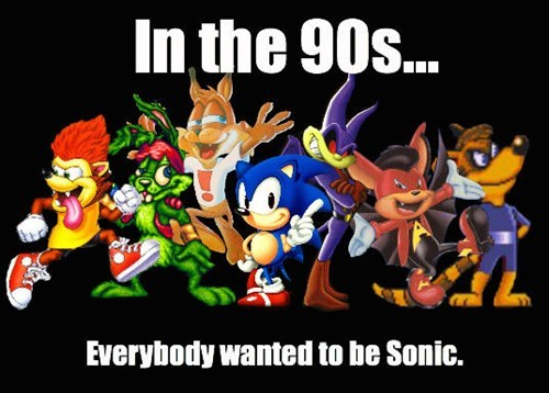 90s mascots video games sonic bubsy - 8243924480