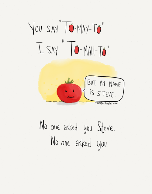 tomatoes,Pronunciation,web comics