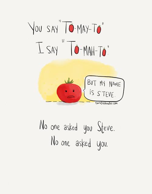 tomatoes Pronunciation web comics - 8244073728
