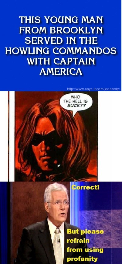 captain america Jeopardy winter soldier