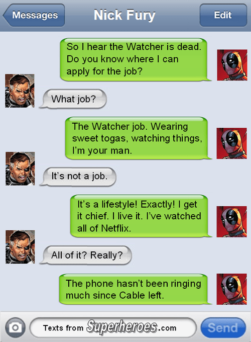 deadpool Nick Fury the watcher - 8244141568
