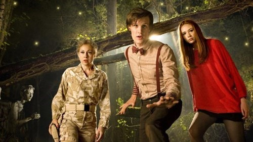 photobomb weeping angels 11th Doctor amy pond River Song