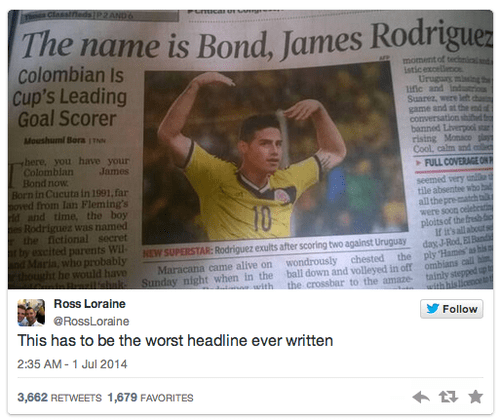 headline world cup puns