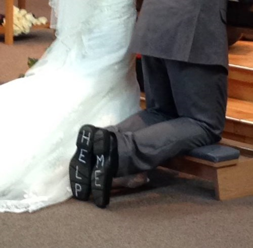 shoes groom poorly dressed help wedding g rated