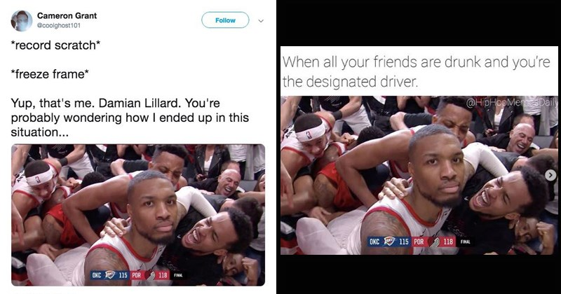 nba professional sports sports portland funny memes sports memes trail blazers oklahoma city thunder trending memes damian lillard basketball okc pro sports - 8244485