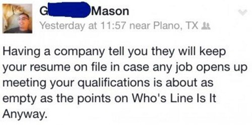 monday thru friday,job hunt,facebook,whose line is it anyway,g rated