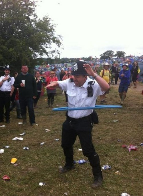 monday thru friday cops hula hoop